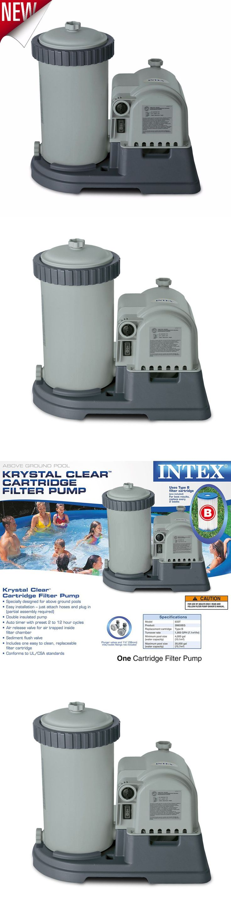 Pool Pumps 181485: Intex Krystal Clear Sand Filter Pump For Above Ground Pools 2500 Gph Pump Fl New -> BUY IT NOW ONLY: $90.28 on eBay!