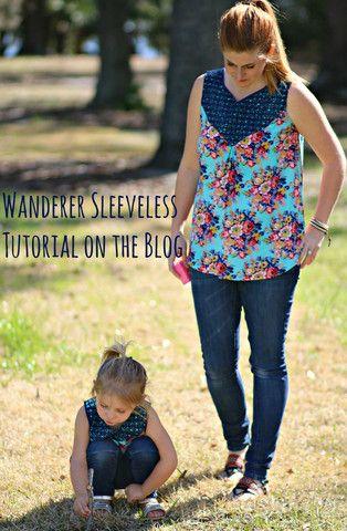 Wanderer Tunic Pattern Women XS-XXXL - Striped Swallow Designs