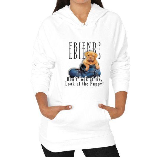 Puppy Friend Hoodie (on woman)