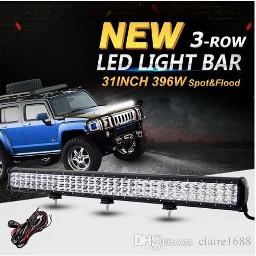 31inch 396W 3-Row 6D CREE Chips LED Offroad Light Bar Combo Led Work Light for 12v 24v Truck SUV ATV 4WD Pickup Led Bar - $210.99