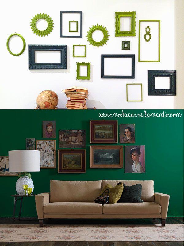 Cornici e quadri per decorare le pareti.