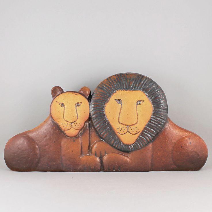 Lisa Larson (Noah's Arc 1978) Lovely Large Lion Couple