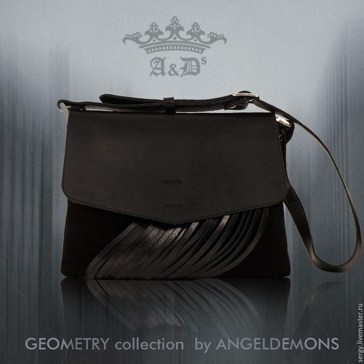 Купить Сумка Fringes Envelope Bag Black - черный, замша, кожа, сумка замша