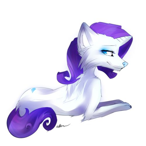 magic+Wolf+Drawings | theponyartcollection:Wolf Rarity by *Affanita
