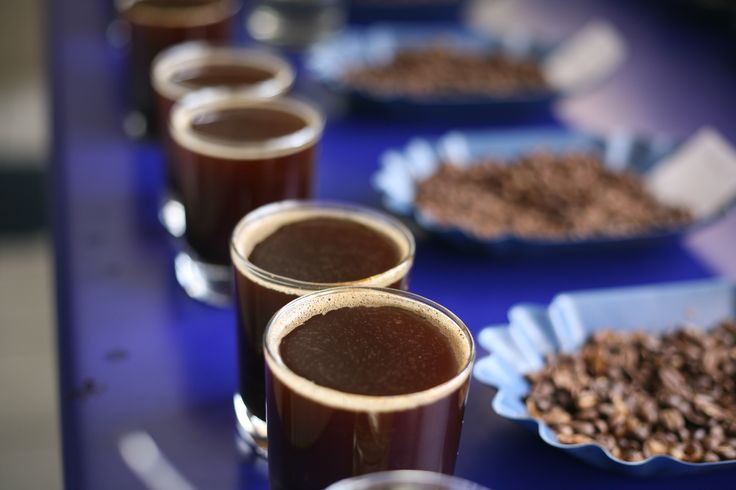 The coffees cupped
