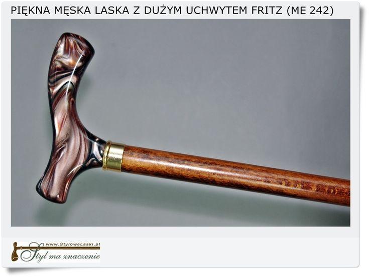 Męska laska z dużą rączką Fritz (ME 242)