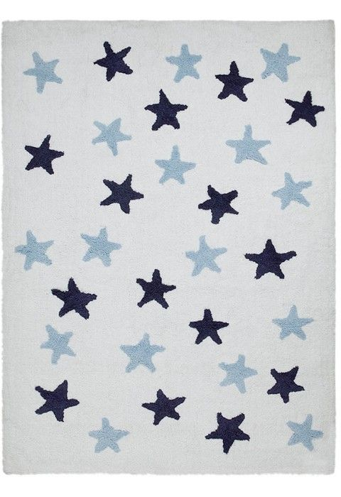Stars Messy White-Blue