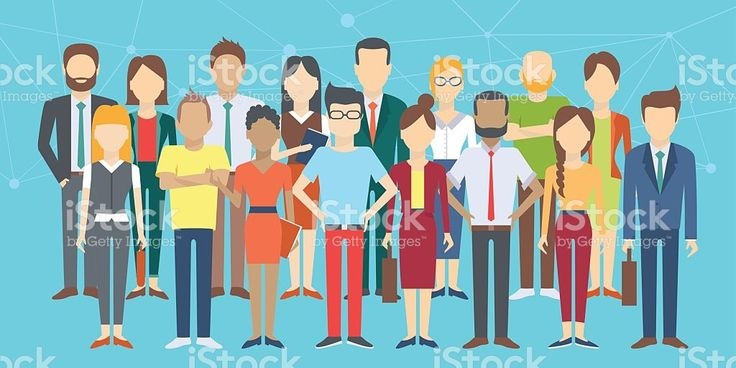 Set of business people royalty-free stock vector art