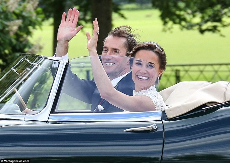 The couple, who were dressed to impress in their wedding outfits, were seen driving through London as they made the 50 mile journey  to St Mark's Church in Berkshire.
