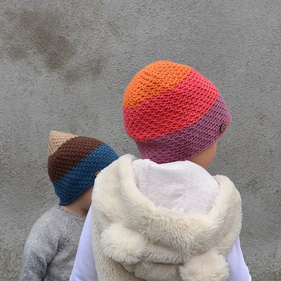 Check out Handmade Baby / Toddler BOY / GIRL Cotton Hat in Petrol, Brown and Beige and Orange, Red and Purple on acrazysheep
