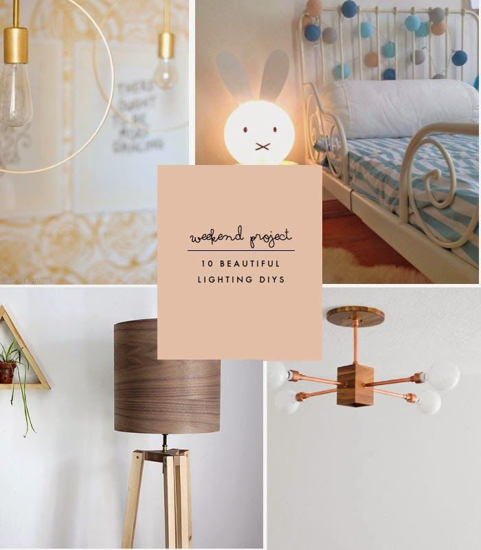 Poppytalk: Weekend Project   10 Beautiful Lighting DIYs