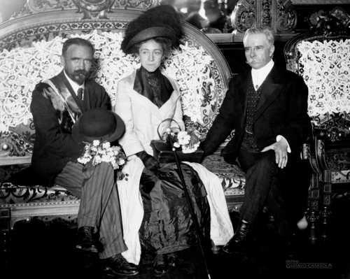 Francisco I. Madero, su esposa Sarita y Francisco León de la Barra
