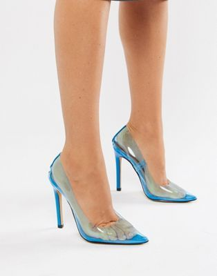 4a8c8c4bb70b Public Desire Extra clear pumps in blue in 2019