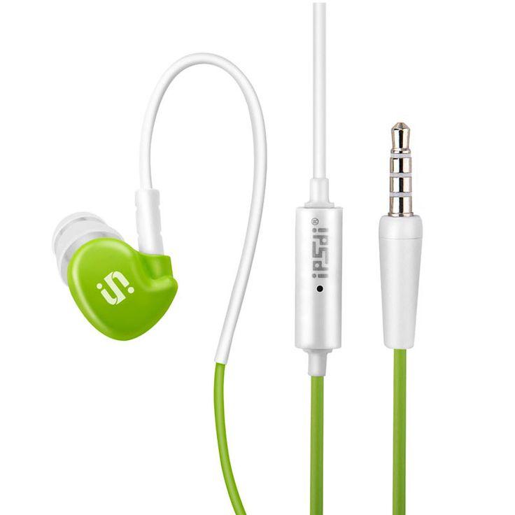 Ipsdi HF211 Ear Hook Earphone Outdoor Sports Headphone Wired MP3 Headset Noice Cancelling Headphone for iPhone Samsung Xiaomi