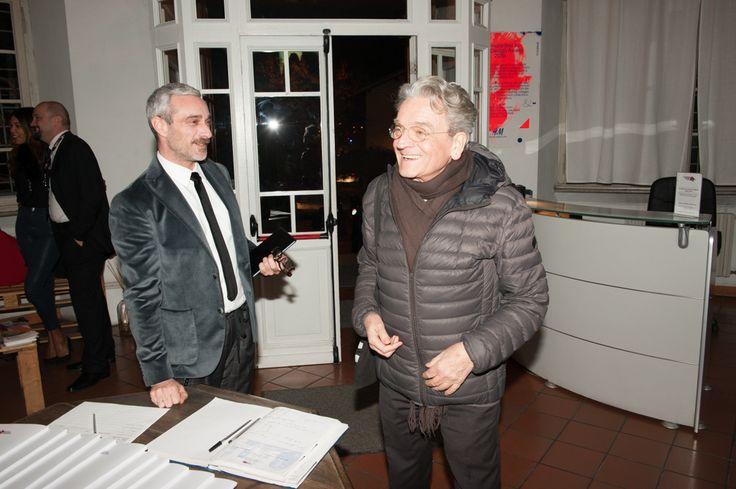 Gian Battista Vannozzi in Accademia Costume & Moda welcomed by Olivier Di Gianni #gianbattistavannozzi #accademiacostumeemoda