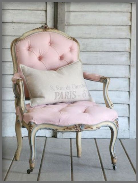 Vintage antique restored chair--how cute in a girls room or playroom
