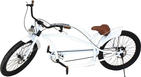 26 zoll chopper fahrrad white xxl cruiser bike american. Black Bedroom Furniture Sets. Home Design Ideas