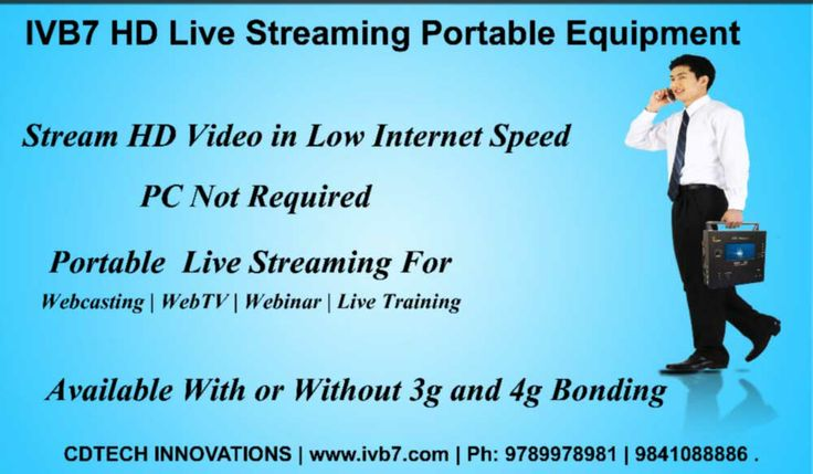 IVB7 HD Webcaster can use it for streaming the videos in HD quality.The IVB7 interactive webcasting solution which has enabled its users to stream, record, collaborate and manage the video content using the modern Cloud-based networking. To Know More Visit http://ivb7.com.