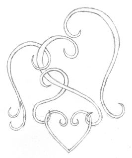 3 intertwined open Hearts signifying mother, father, and child OMG i love this!! <3 bc we can add on to it once we're ready to have more! :D this is a good idea!! I'm just not sure I'm brave enough to actually get a tattoo