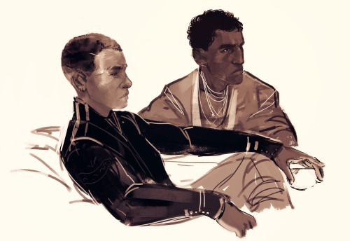 jasminejbatista:  Breq and Seivarden. Just finished reading Ancillary Justice, and it blew my mind to pieces.