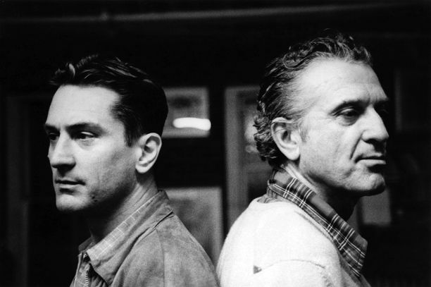 Robert De Niro with his father, Robert De Niro Sr., who was gay. #LGBT  Read more: http://www.people.com/article/robert-deniro-gay-dad-in-out-magazine