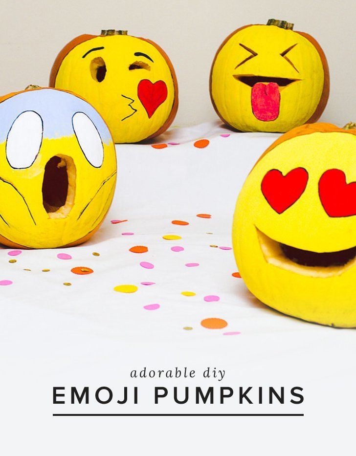 How funny are these cute emoji pumpkins?!