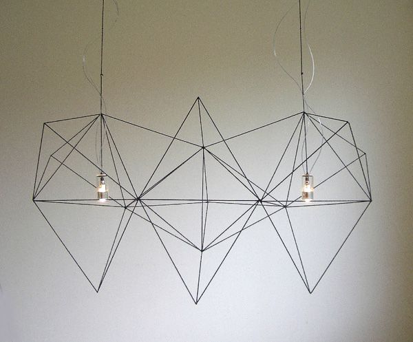 Prism by Nathalie Dewez for Habitat | don't bother, it's out of production. why the hell didn't I buy it when i first say it — years ago, before i had a place to put it?! powder-coated steel. my all-time favorite geometric chandy. *sadface* HABITAT: PLZ MAKE THIS AGAIN!