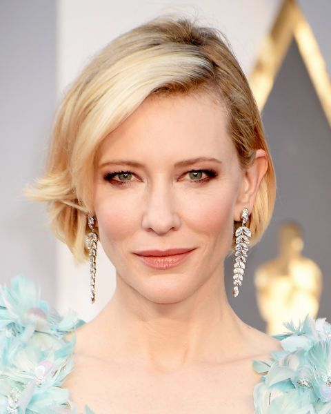 Short, sleek and curled under, Cate Blanchett's bob is chic AF.