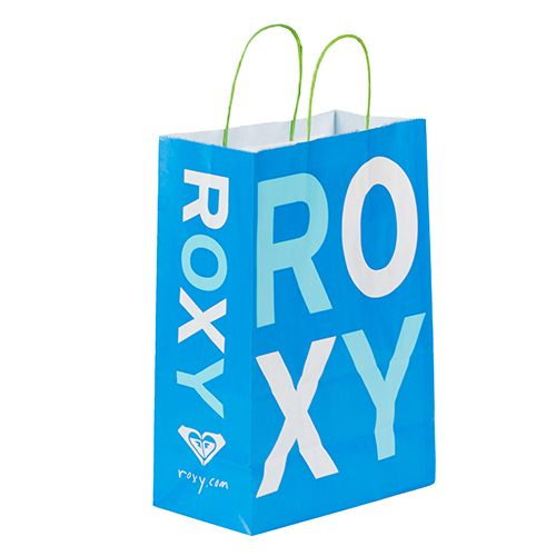 Custom printed kraft shopping bag for Roxy.