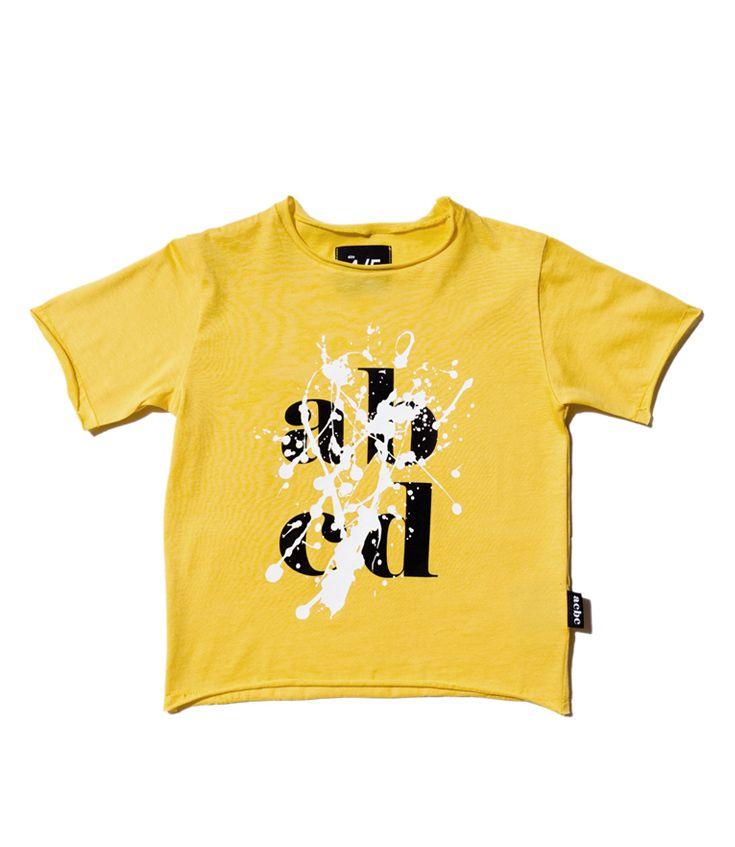"""abcd"" splash yellow t-shirt"