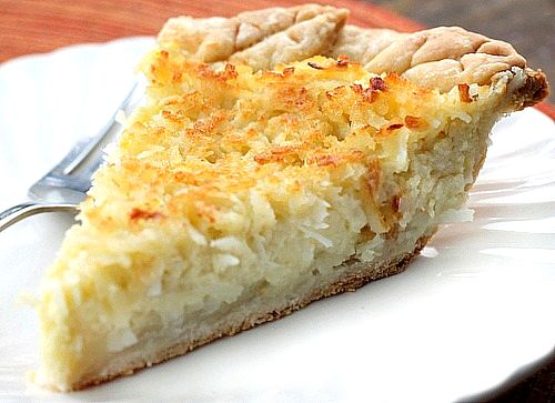 Coconut Custard Pie A delicious pie with the perfect balance of creamy custard and coconut!