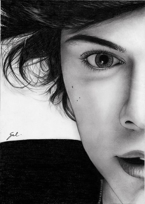 This is a...this is a...THIS IS A DRAWING. Like with pencils, or graphite, or pens, or MAGIC.   :o
