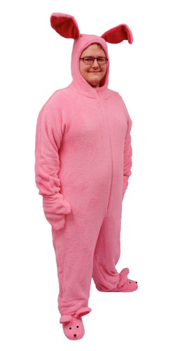 A Christmas Story Pink Bunny Suit Costume | eBay