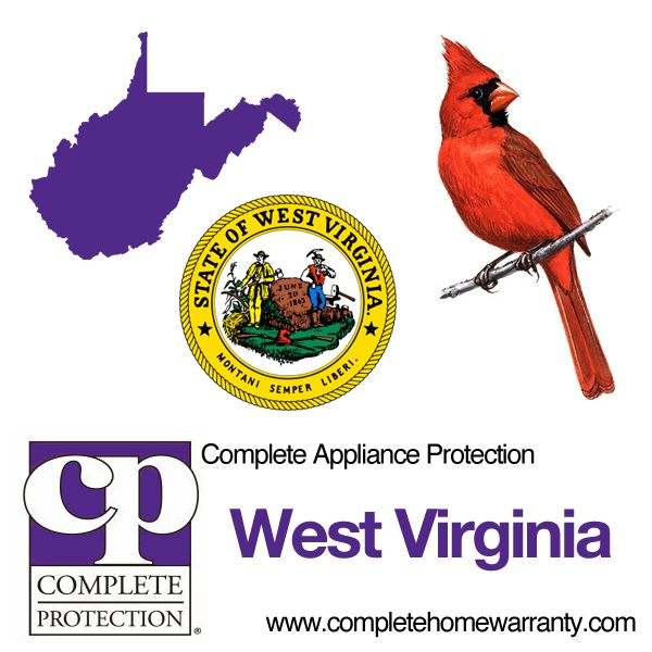 West Virginia Home Warranty - Complete Appliance Warranty - Best Home Warranty Reviews - Call 1-800-978-2022 - West Virginia Home Warranty
