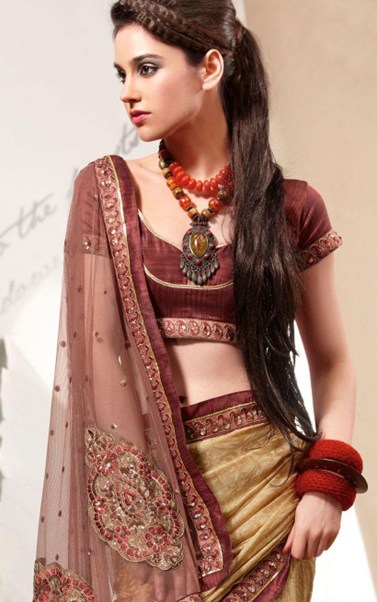 Designer Brown Sarees Collections For More Designer Sarees Collection Visit:http://www.ethnicwholesaler.com/sarees-saris/designer-sarees