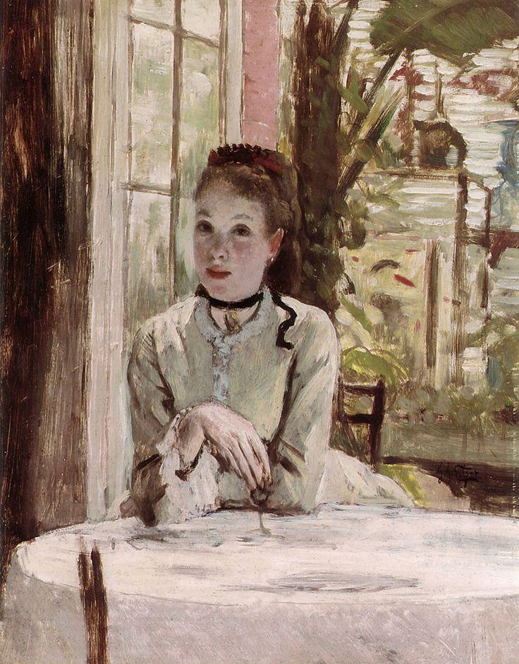 James Jacques Joseph Tissot - A woman in an elegant interior.