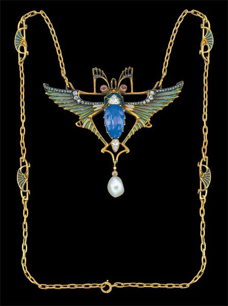 Léopold Albert Marin Gautrait  Art Nouveau Necklace