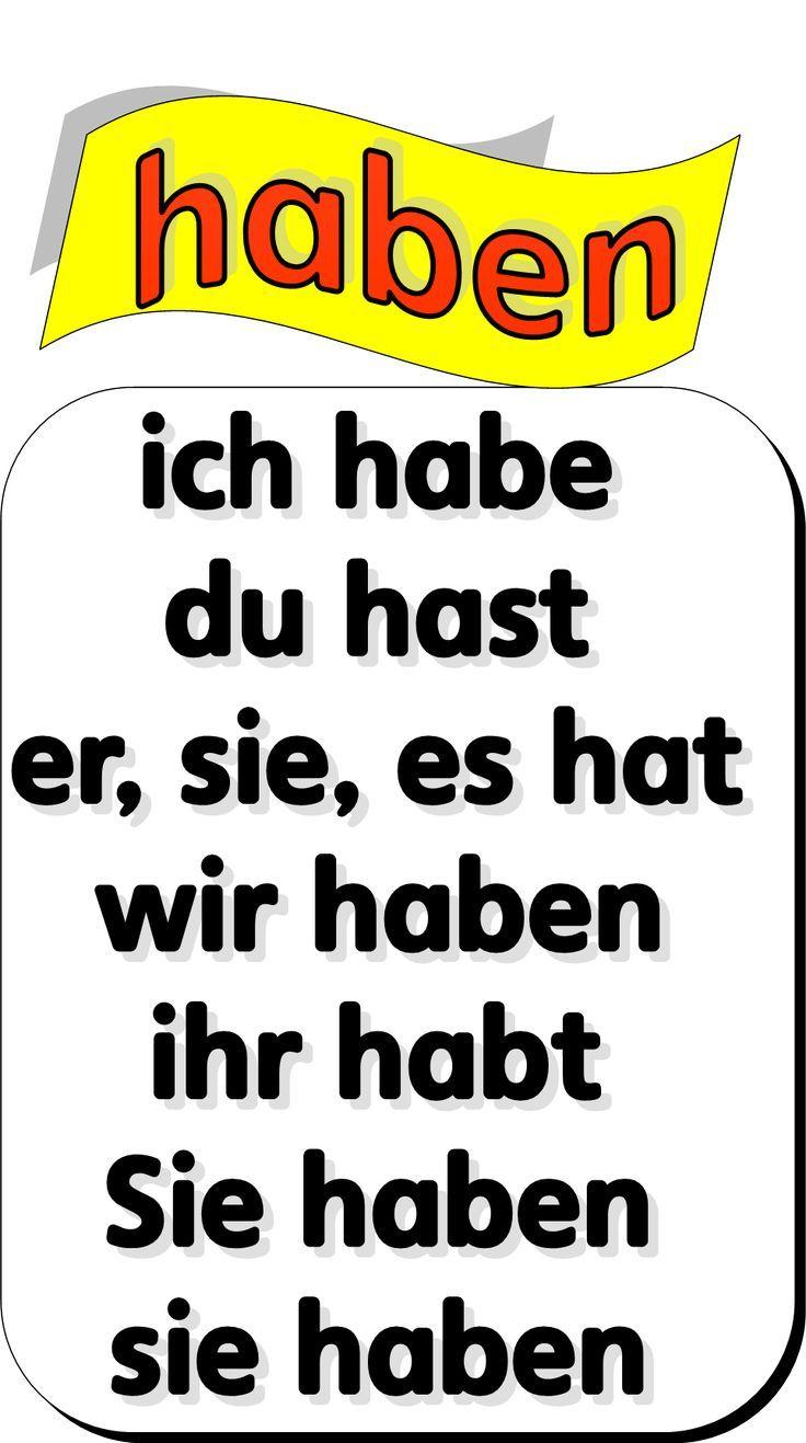 Haben Verb Conjugation Conjugation Haben Verb Aprender Aleman Aprendizaje Idioma Aleman Palabras En Aleman