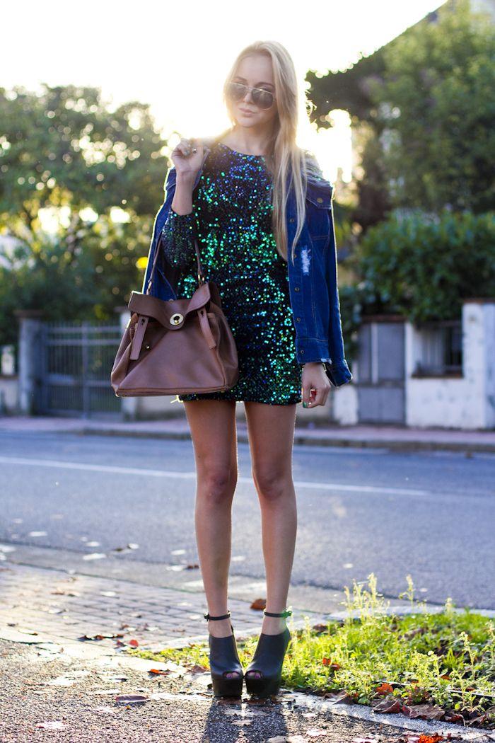 cablook fashion blog darya kamalova motel rocks dress sequin ysl ...
