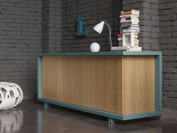 Download the catalogue and request prices of Frame | sideboard by Dall'agnese, oak sideboard with doors design DOS Design, Frame collection