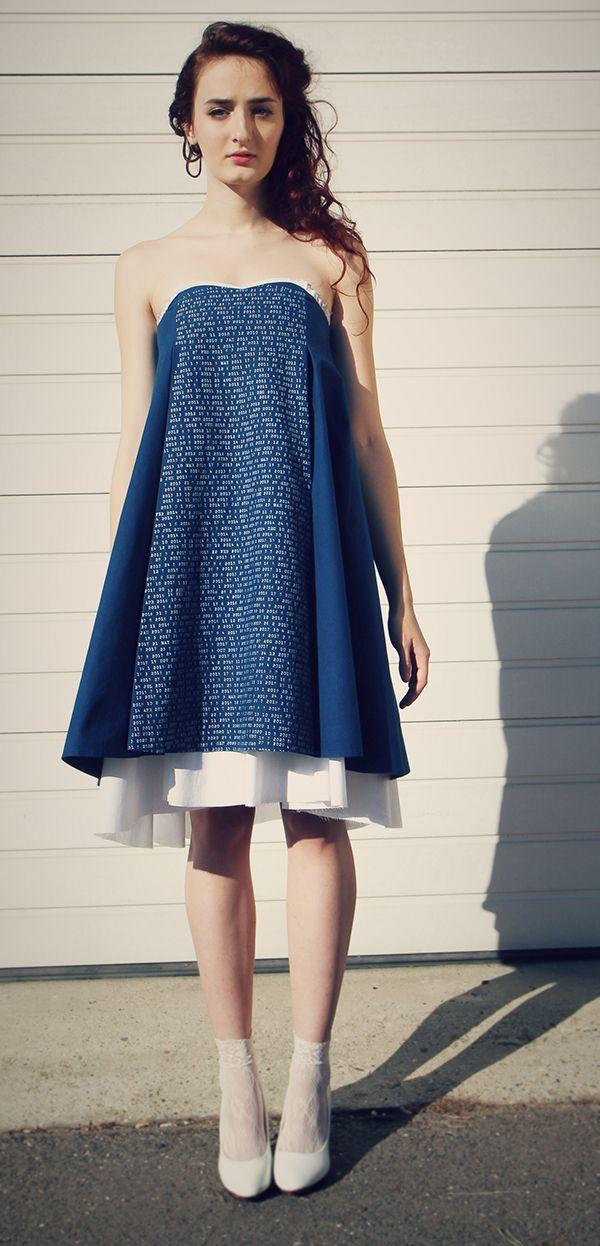 Nina Holubcova - sunday dress::modrotlač