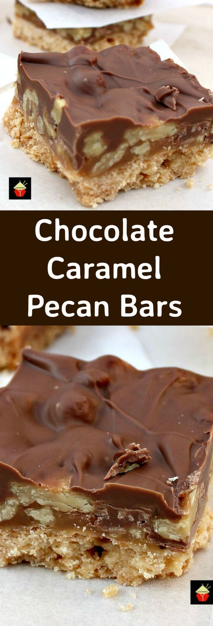 Chocolate Caramel Pecan Bars. These are so addictive! Easy to make and always…