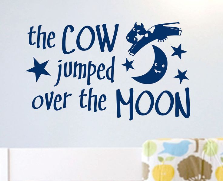 Nursery Rhyme Wall Quote Cow Jumped over the Moon