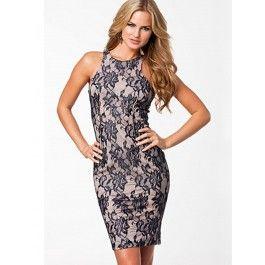 Vestido de Encaje Ajustado Online MS836