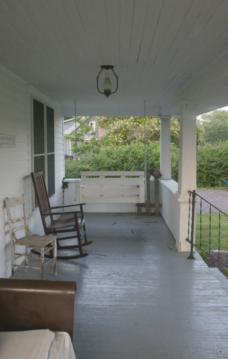 farmhouse front porch remodel before picture