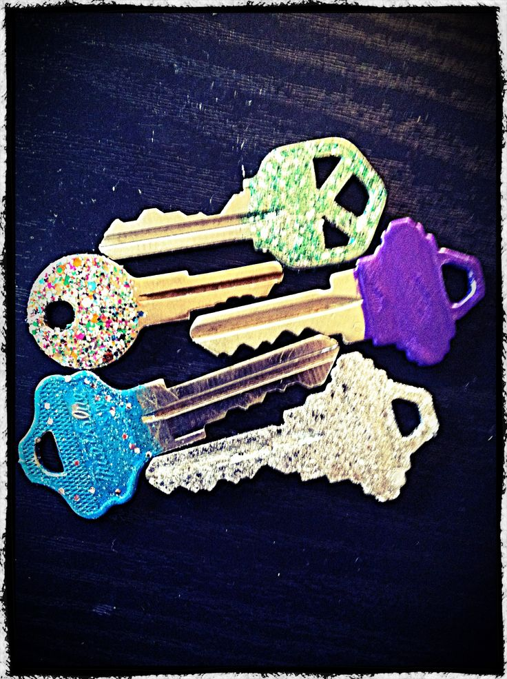 nail polished keys