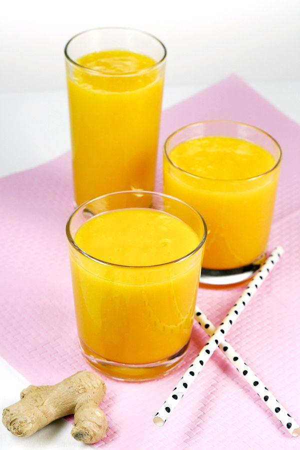 Detox-Smoothie mit Orange, Mango und Ingwer Rezept - Gaumenfreundin.de Foodblog