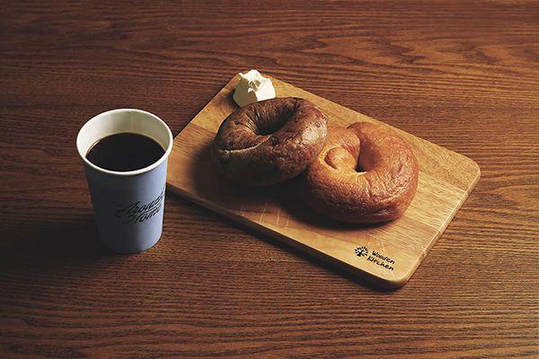 cafe around home bagel & coffee product photo by. wooubi studio  카페 어라운드 홈 베이글 & 커피 상품 사진 _우유비 스튜디오