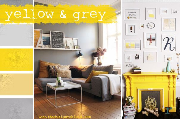 Colours- yellow & Grey