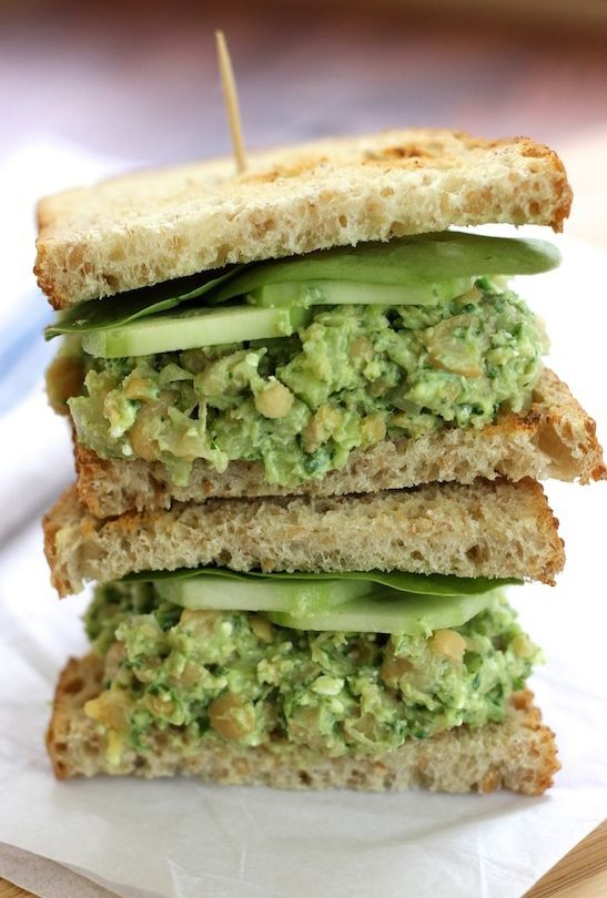 Chickpea Avocado Sandwich. An easy sandwich to make that's filling ...